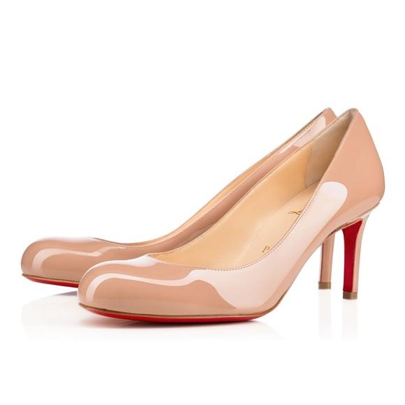6d8bda96c91 Christian Louboutin Shoes - Christian Louboutin Simple Pump 70 Nude Patent